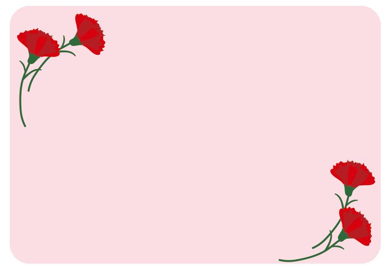 母の日のカード2(ピンク)