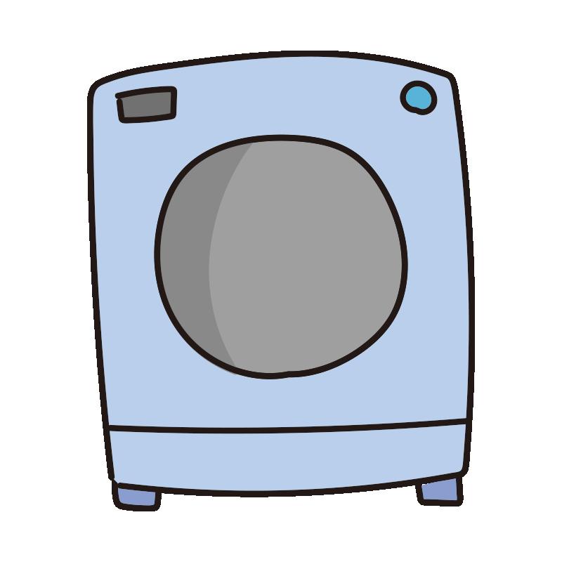 青いドラム式洗濯機1
