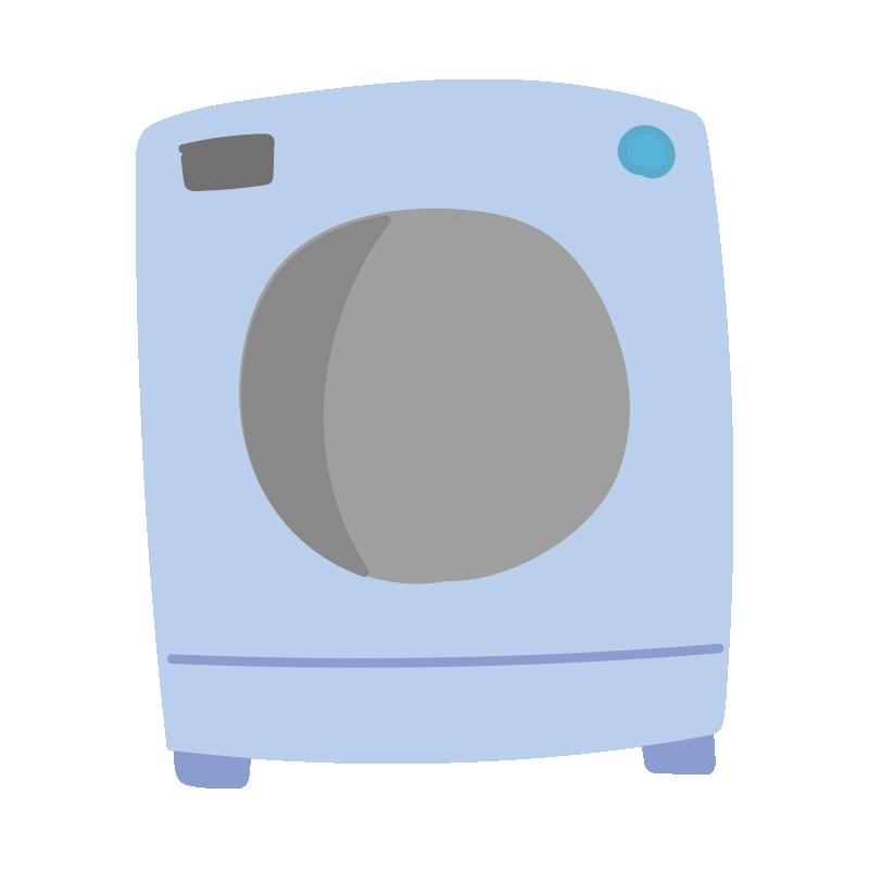 青いドラム式洗濯機2