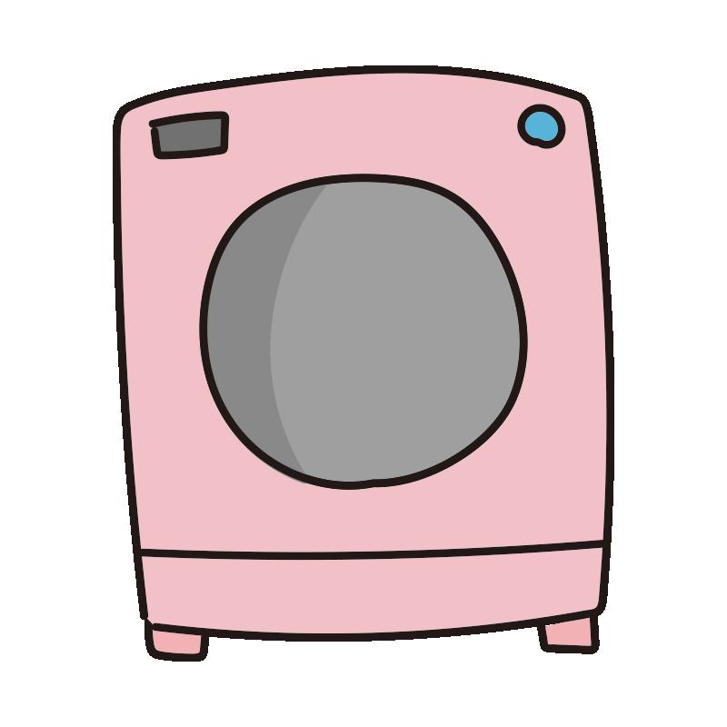 ピンクのドラム式洗濯機1