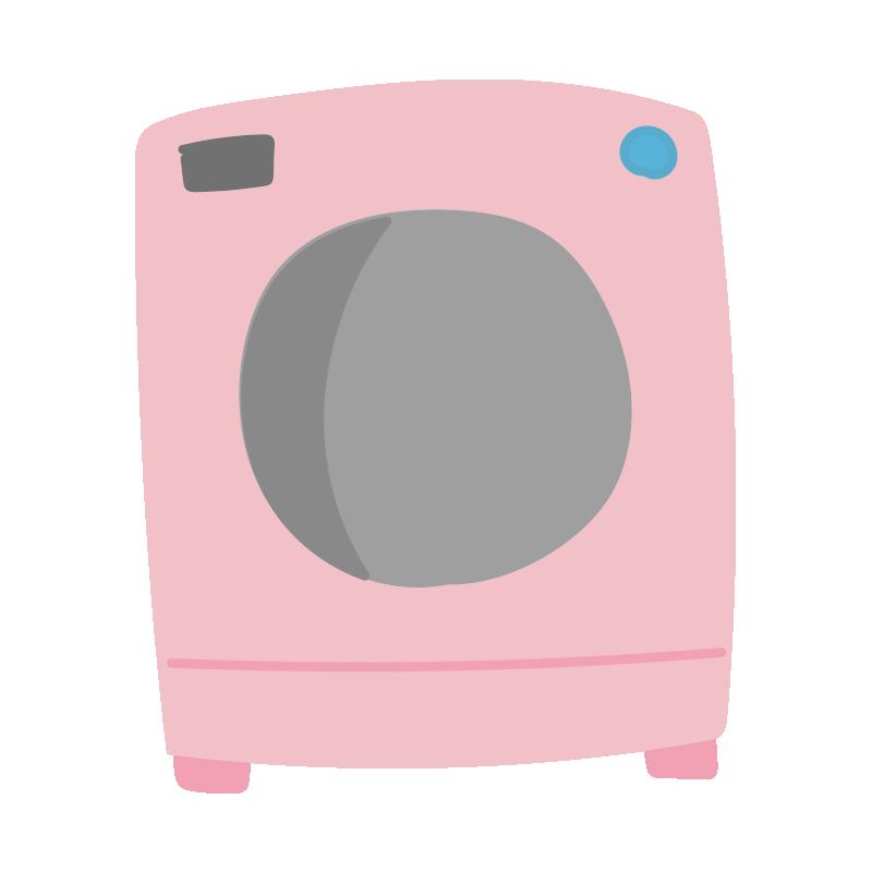 ピンクのドラム式洗濯機2