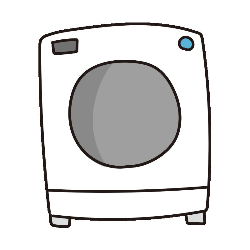 白いドラム式洗濯機1