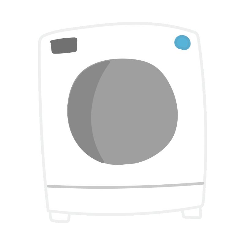 白いドラム式洗濯機2