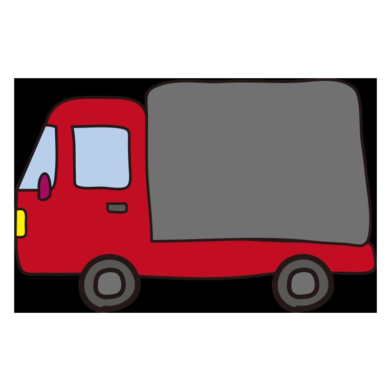 小型トラック(赤)1