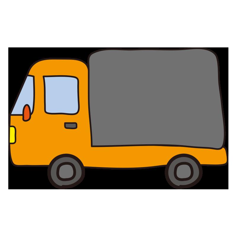 小型トラック(オレンジ)1