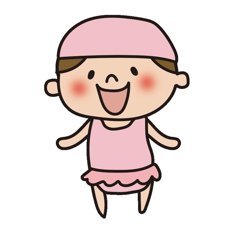 スイミングキャップをかぶった女の子1