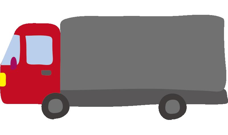 大型トラック(赤)2