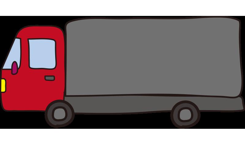 大型トラック(赤)1