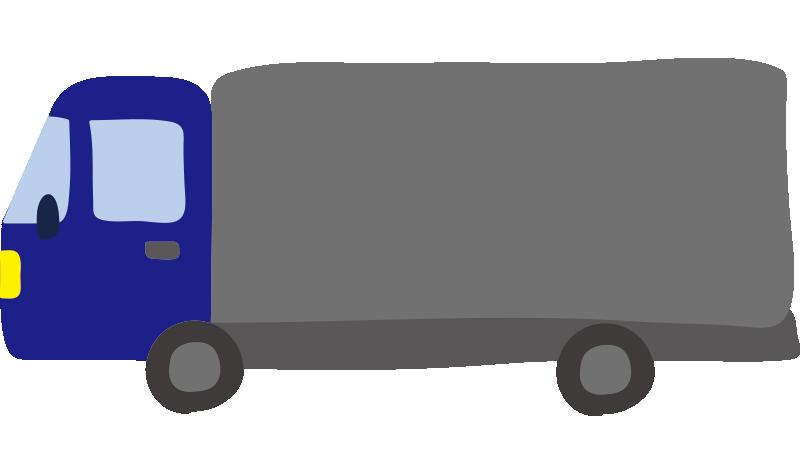 大型トラック(青)2