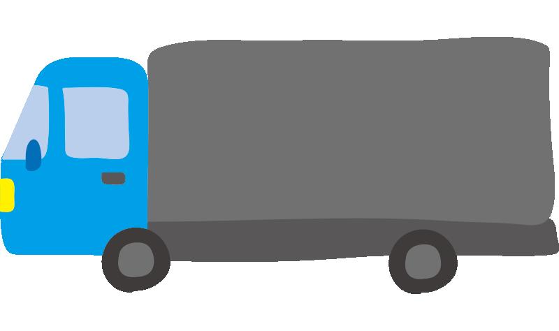 大型トラック(水色)2