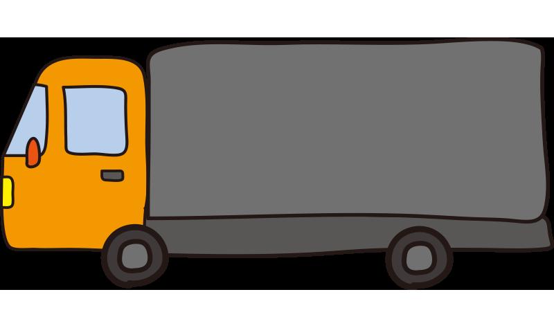 大型トラック(オレンジ)1