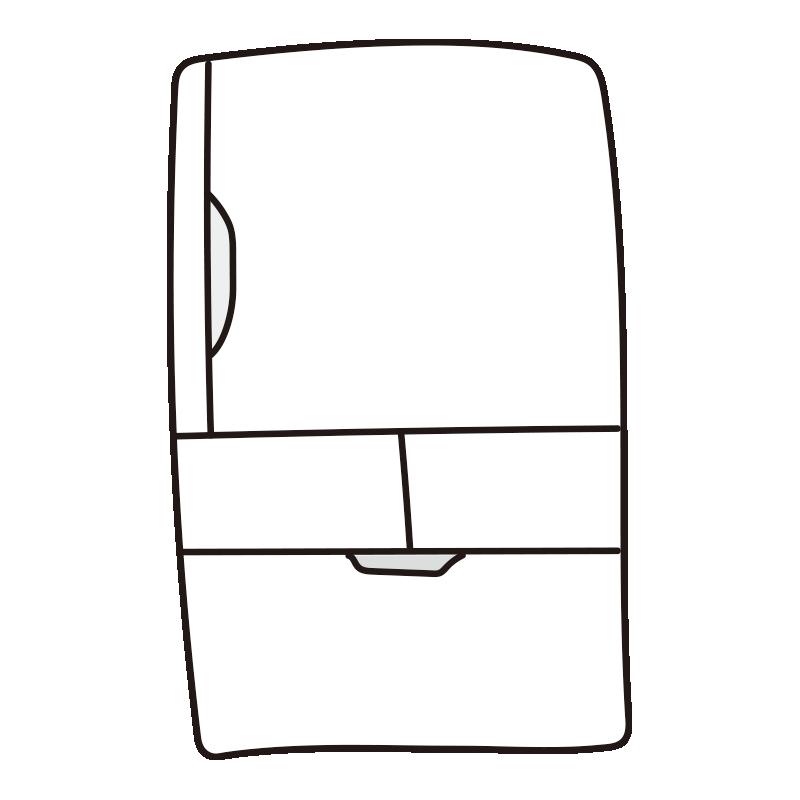 白い冷蔵庫1