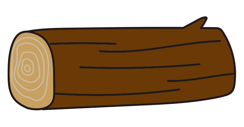 枝のある短い丸太2