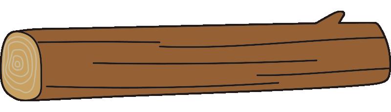 枝のある長い丸太1