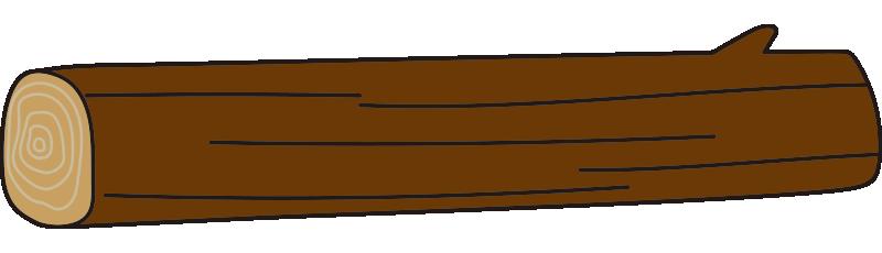 枝のある長い丸太2