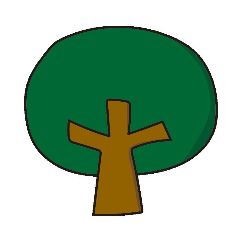 枝のある木2