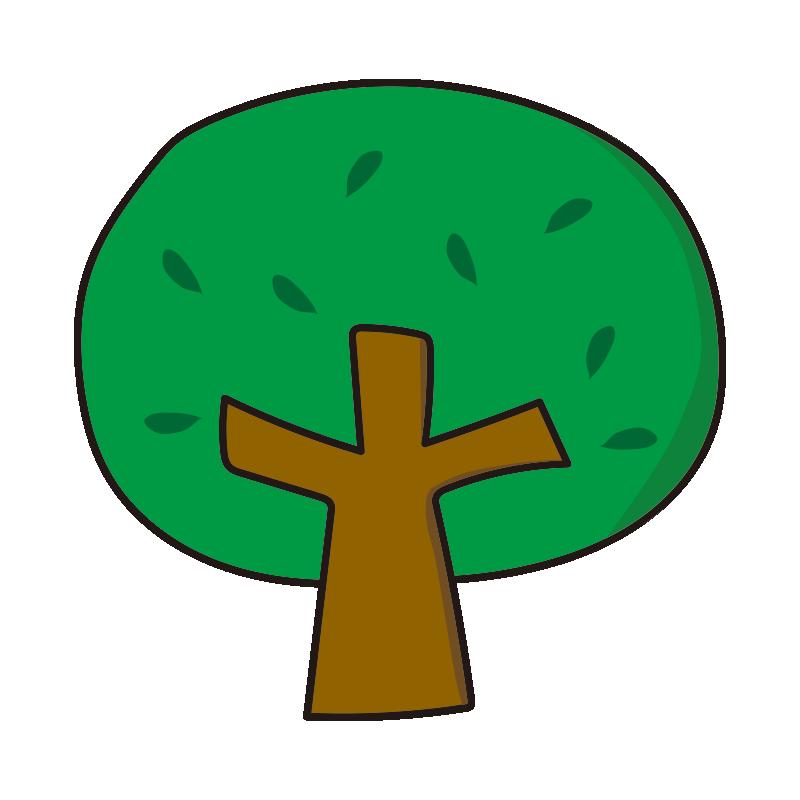 枝と葉のある木1