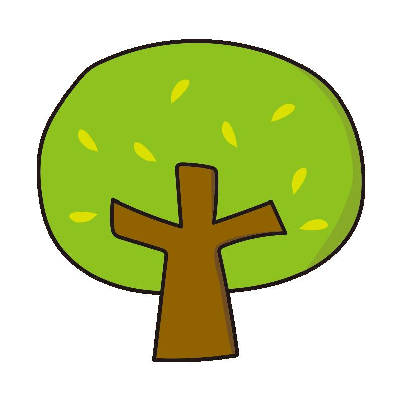 枝と葉のある木3