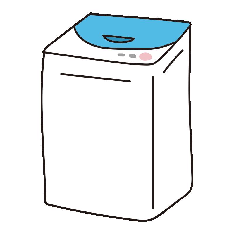 青い縦型洗濯機1