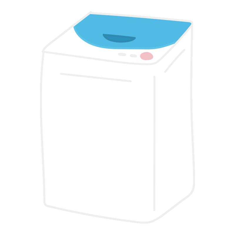 青い縦型洗濯機2