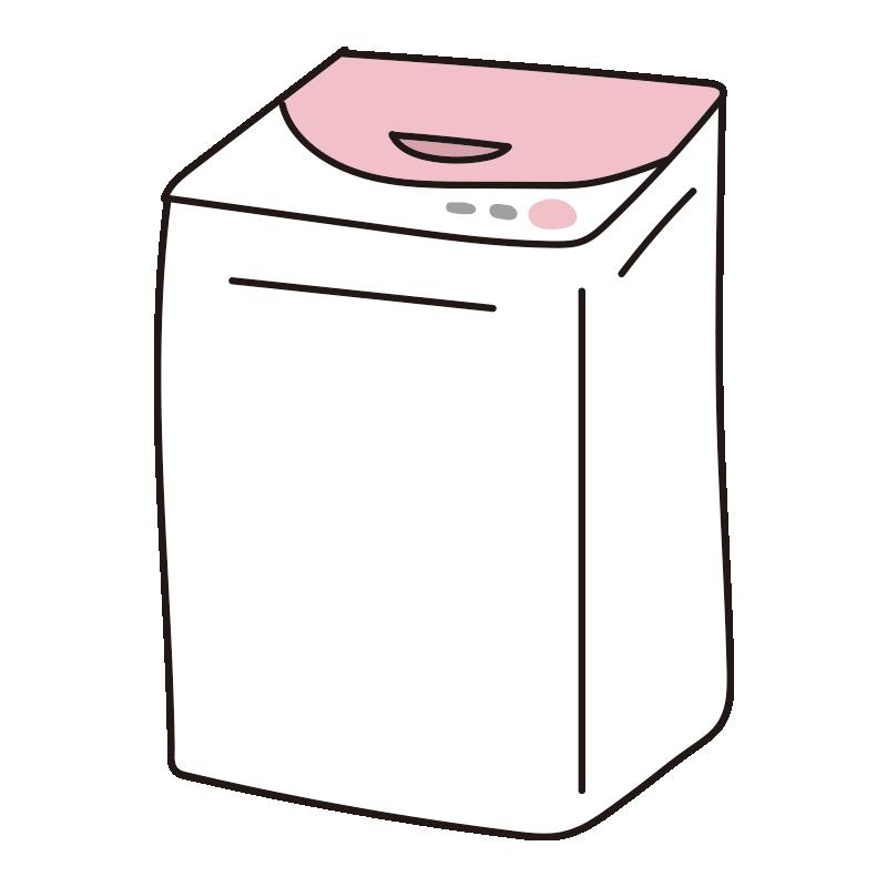 ピンクの縦型洗濯機1