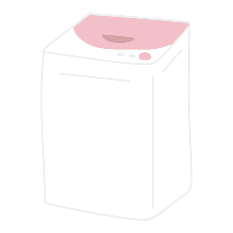 ピンクの縦型洗濯機2