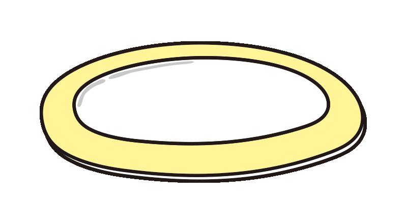 黄色いお皿