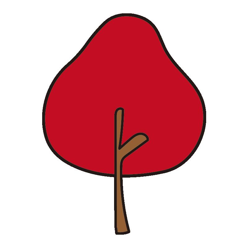 秋の木(赤)1
