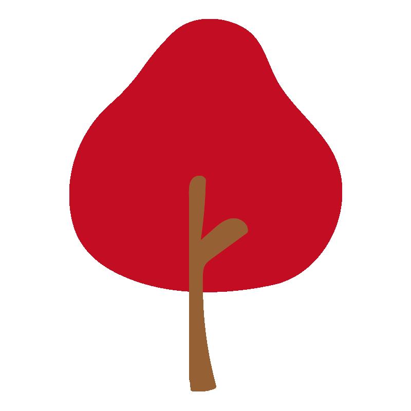 秋の木(赤)2