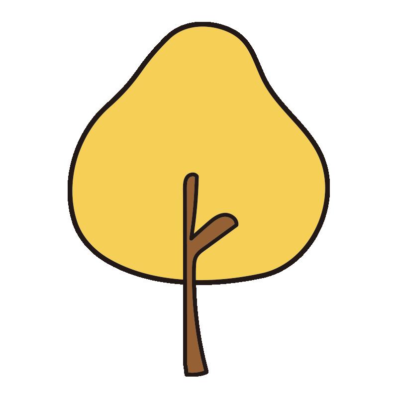 秋の木(黄)1
