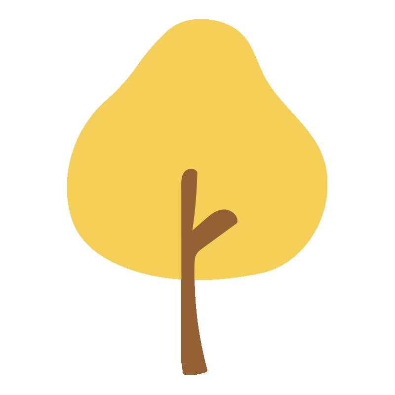 秋の木(黄)2