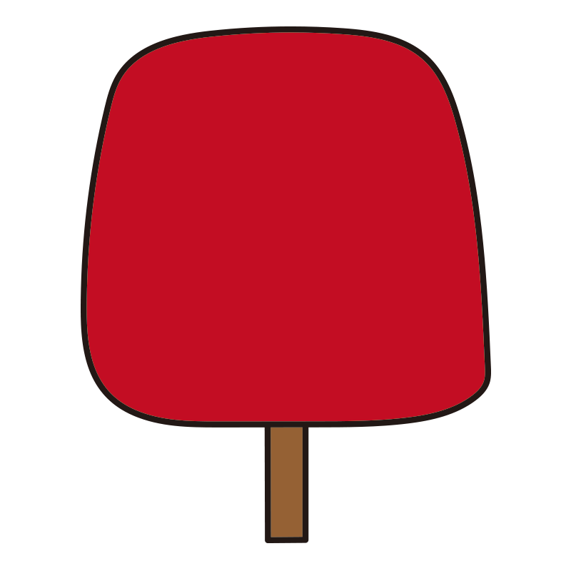 四角い秋の木(赤)1
