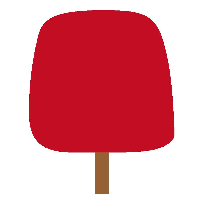 四角い秋の木(赤)2