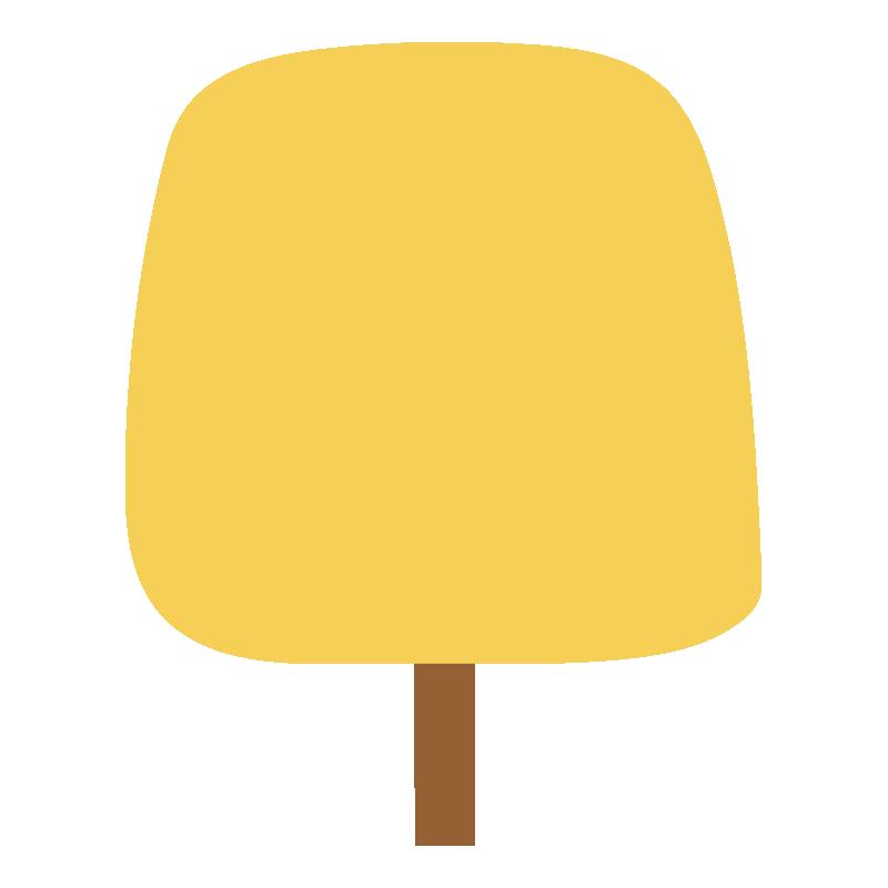 四角い秋の木(黄)2