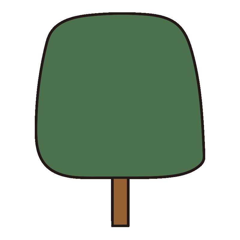 四角い秋の木(緑)1