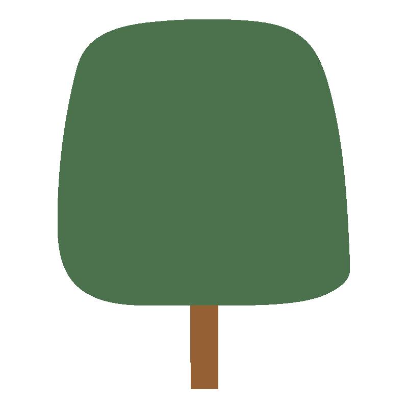 四角い秋の木(緑)2