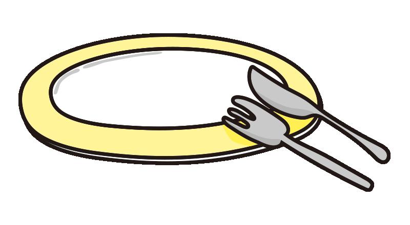 食べ終わった黄色いお皿
