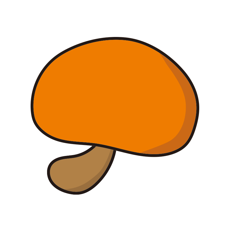 シンプルなオレンジのキノコ1