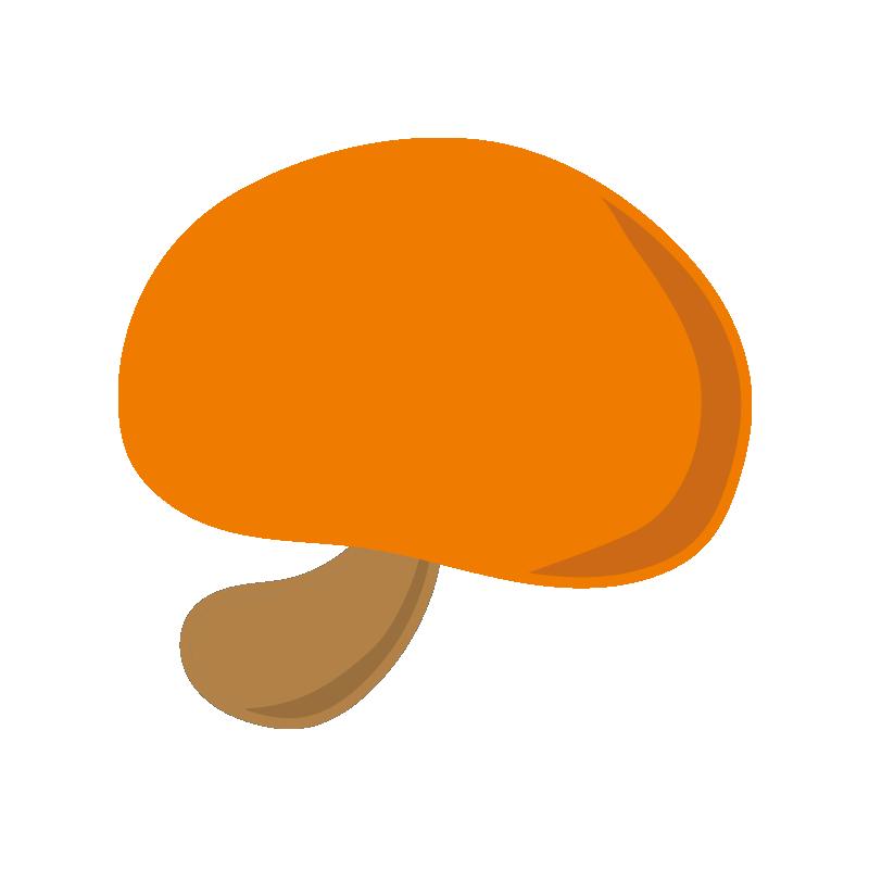 シンプルなオレンジのキノコ2