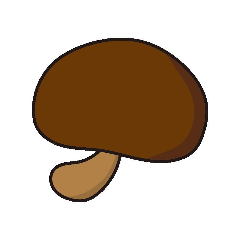 シンプルな茶色いキノコ1