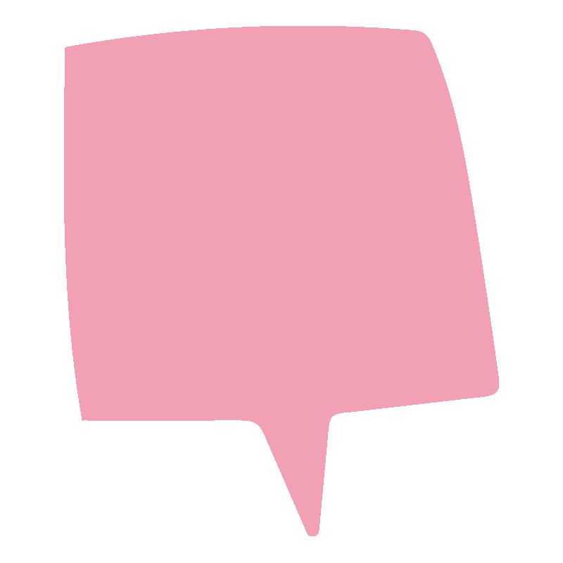四角い吹き出し(ピンク)