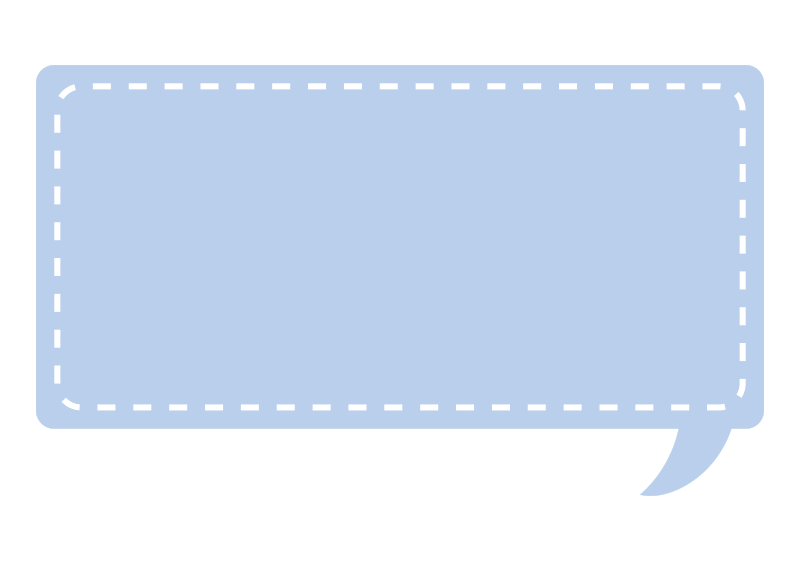 点線で囲んである吹き出し(青)