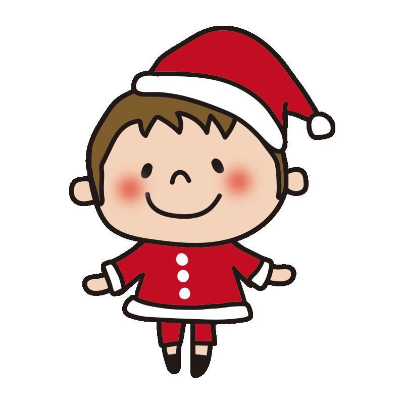 サンタの衣装を着た男の子1