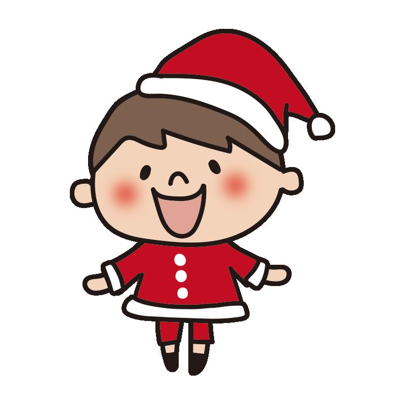 サンタの衣装を着た男の子2