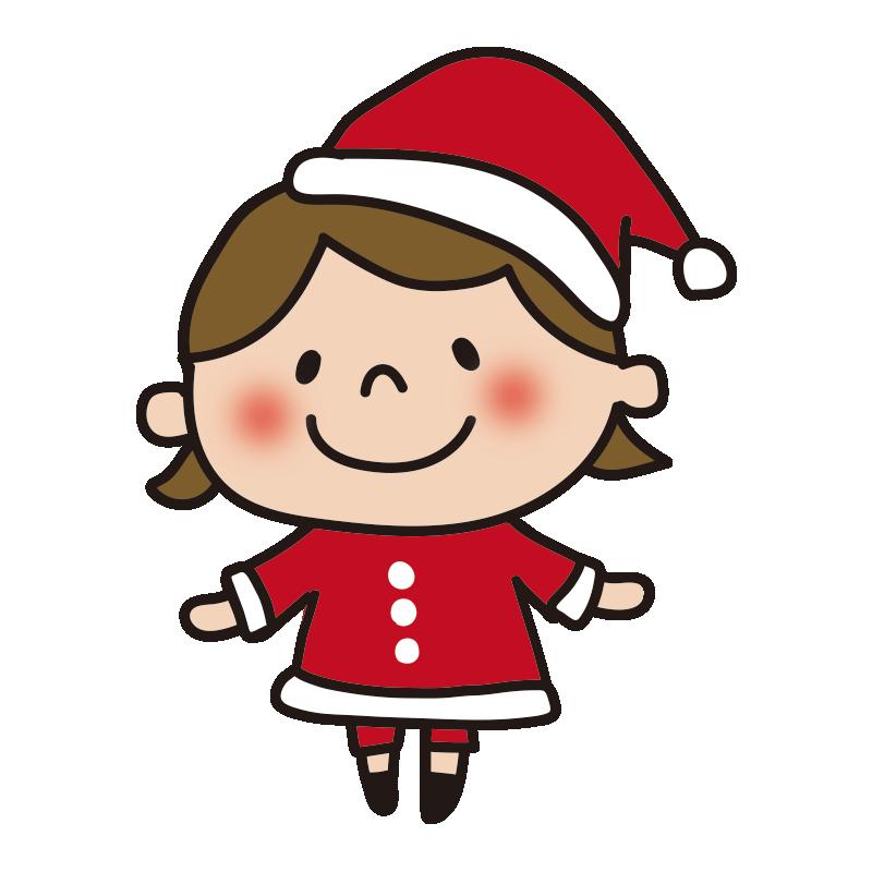 サンタの衣装を着た女の子1