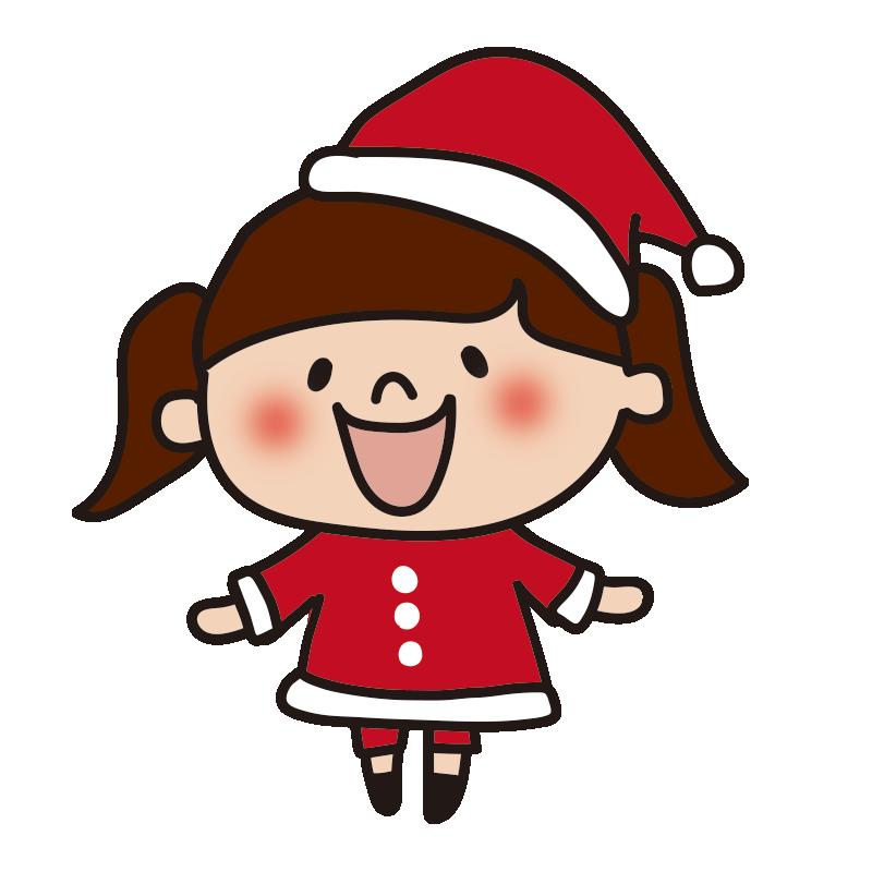 サンタの衣装を着た女の子2