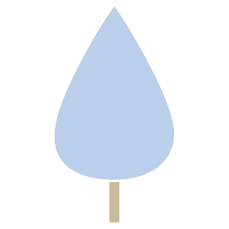 しずく型の木(青)
