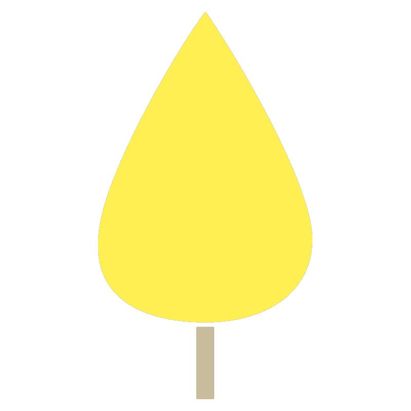しずく型の木(黄)