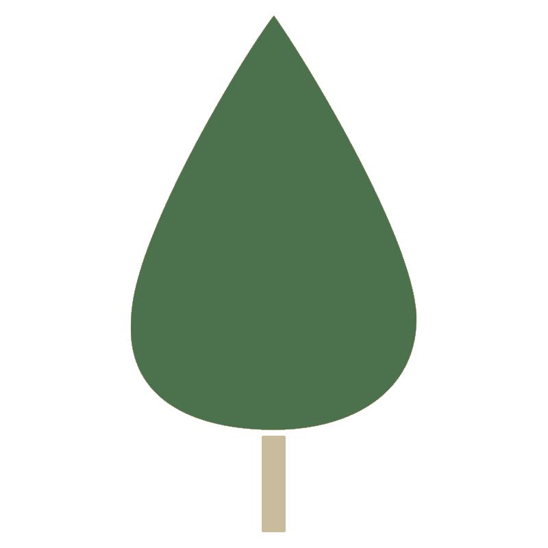 しずく型の木(緑)