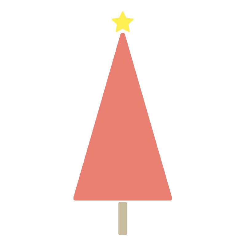 三角のツリー(赤)